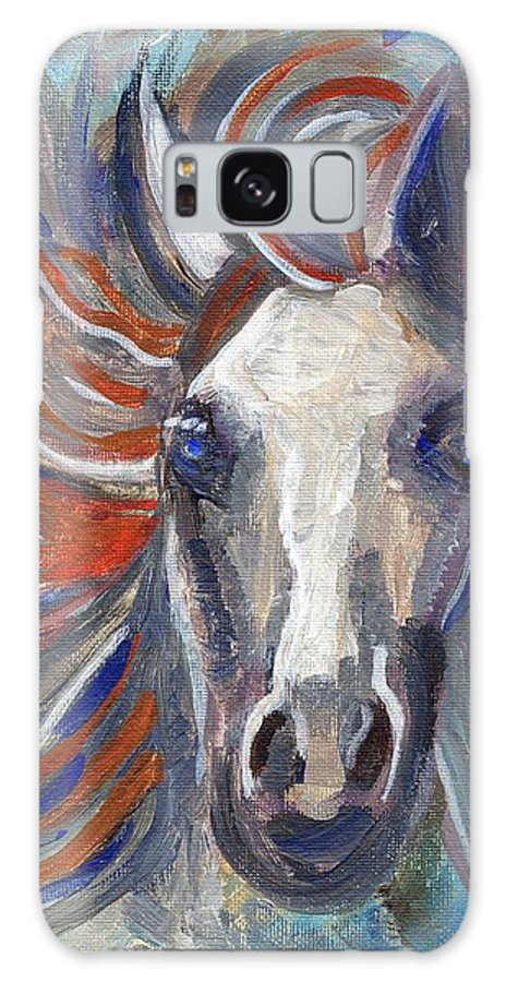 Horse Galaxy S8 Case featuring the painting Horse Portrait 101 by Linda Mears