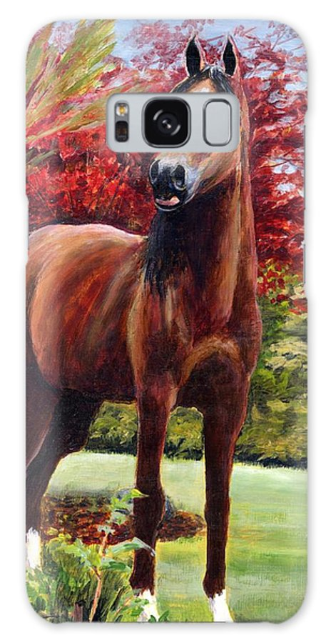 Horse Galaxy S8 Case featuring the painting Horse Portrait by Eileen Fong