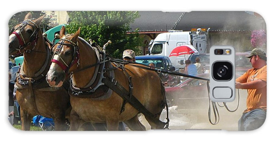 Horse Galaxy S8 Case featuring the photograph Horse Pull 3 by Melissa Parks