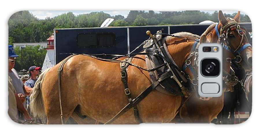 Horses Galaxy S8 Case featuring the photograph Horse Pull I by Melissa Parks