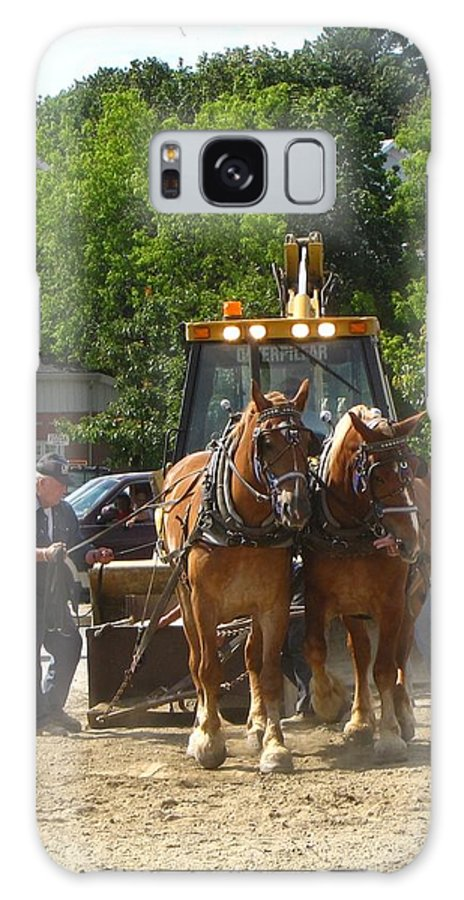Horse Galaxy S8 Case featuring the photograph Horse Pull In New Brunswick Canada by Melissa Parks