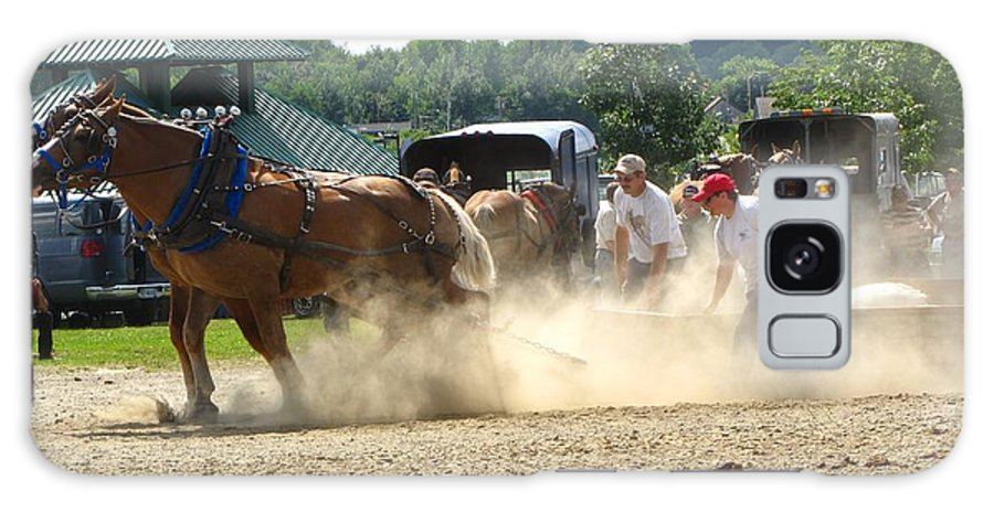 Horse Galaxy S8 Case featuring the photograph Horse Pull In St Stephen Nb by Melissa Parks