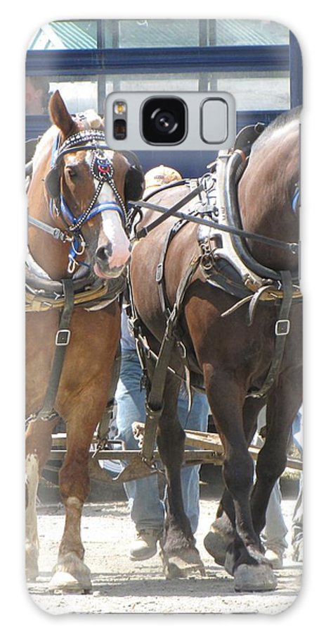 Horses Galaxy S8 Case featuring the photograph Horse Pull J by Melissa Parks
