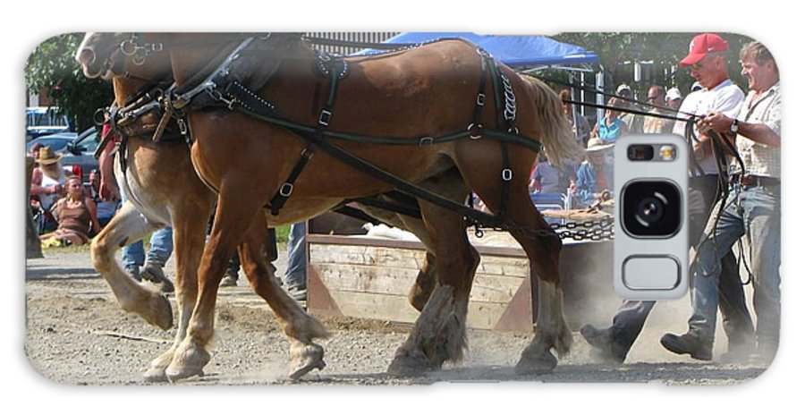 Horse Galaxy S8 Case featuring the photograph Horse Pull Team A by Melissa Parks
