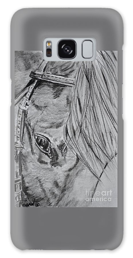 Horse Head Galaxy Case featuring the drawing Horse by Regan J Smith