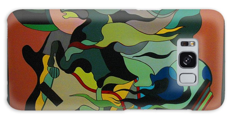 Abstract Galaxy Case featuring the painting Horse by Vasilis Bottas