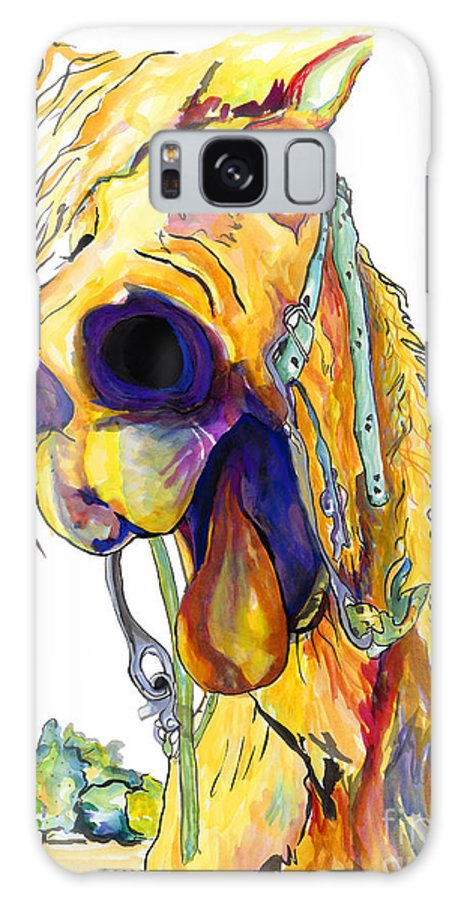 Animal Painting Galaxy S8 Case featuring the painting Horsing Around by Pat Saunders-White