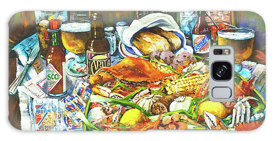 New Orleans Galaxy S8 Case featuring the painting Hot Boiled Crabs by Dianne Parks