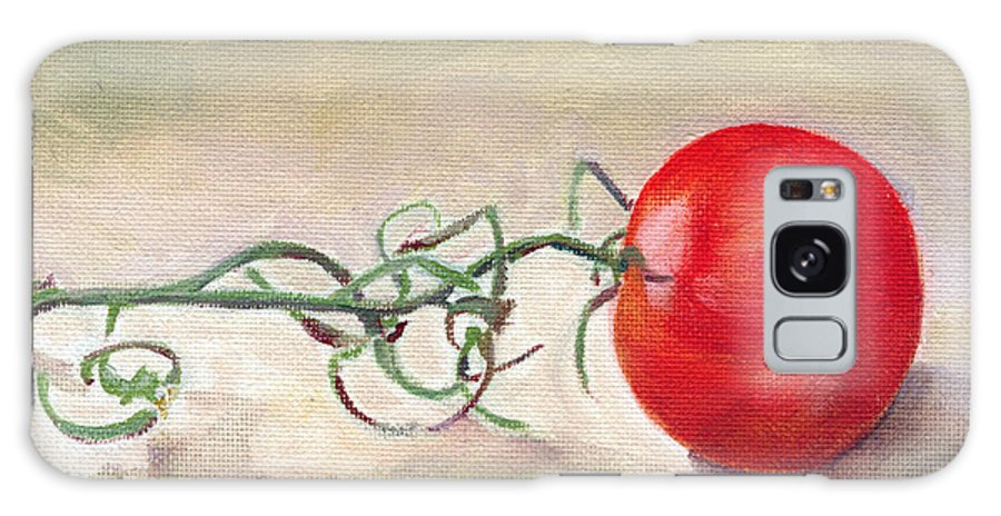 Food Galaxy Case featuring the painting Hot-house Tomato by Sarah Lynch