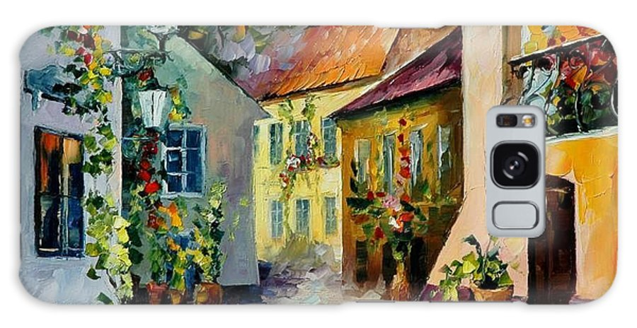 Landscape Galaxy Case featuring the painting Hot Noon Original Oil Painting by Leonid Afremov