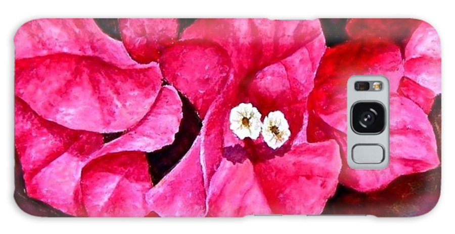 Oil Galaxy Case featuring the painting Hot Pink Bougainvillea by Darla Brock