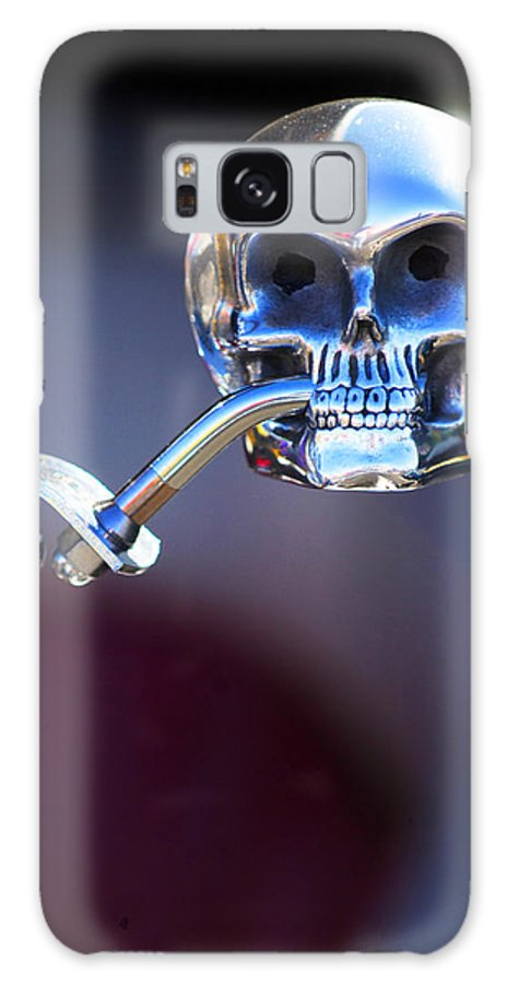 Car Galaxy S8 Case featuring the photograph Hot Rod Skull Rear View Mirror by Jill Reger