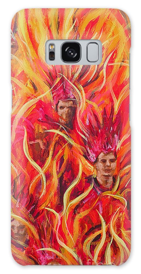 Samba Galaxy S8 Case featuring the painting Hot Samba I Triptyche Left Panel by Leigh Banks
