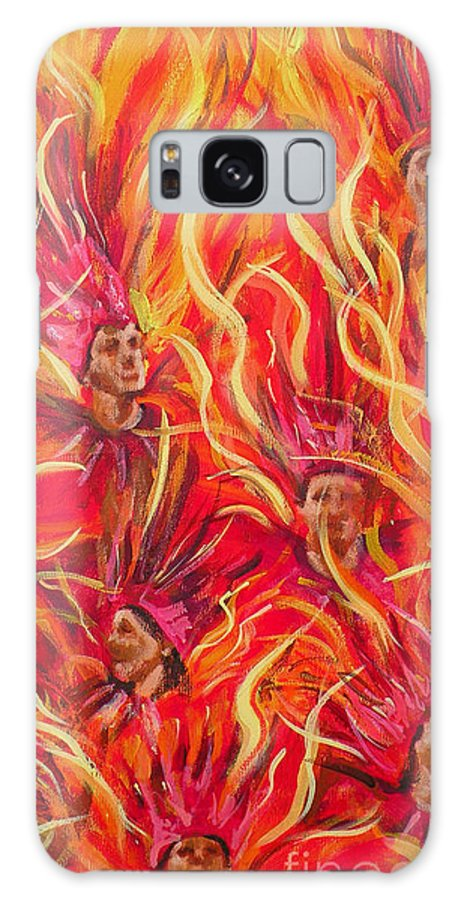 Samba Galaxy S8 Case featuring the painting Hot Samba II Triptyche Middle Panel by Leigh Banks