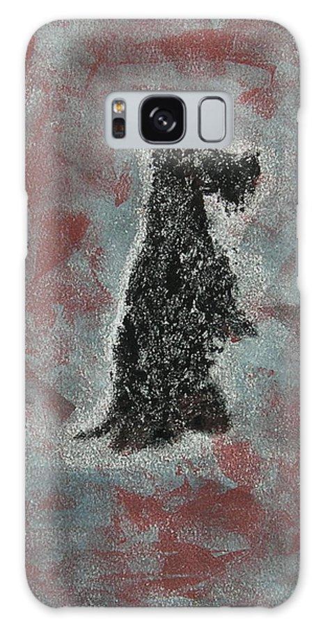 Scottish Terrier Galaxy S8 Case featuring the mixed media Hot Scottie by Cori Solomon