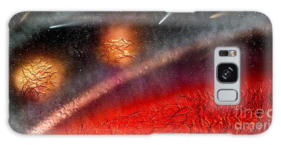 Landscape Galaxy Case featuring the painting Hot Space by Rick Silas