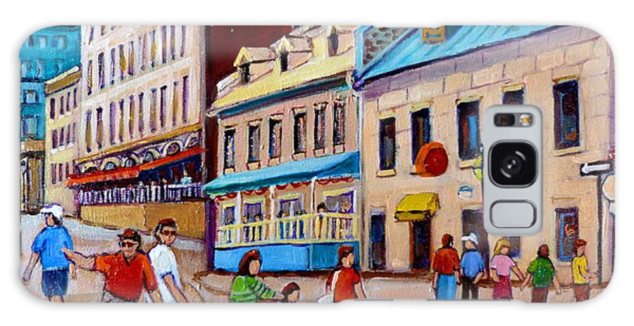 Hotel Nelson Old Montreal Galaxy S8 Case featuring the painting Hotel Nelson Old Montreal by Carole Spandau