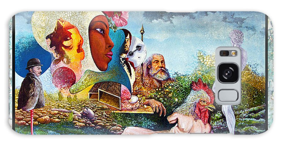 Surrealism Galaxy Case featuring the mixed media Hour Of The Cock by Otto Rapp