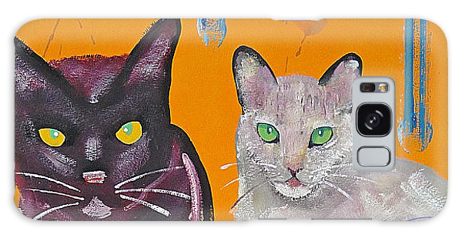 Cat Galaxy S8 Case featuring the painting House Cats by Charles Stuart