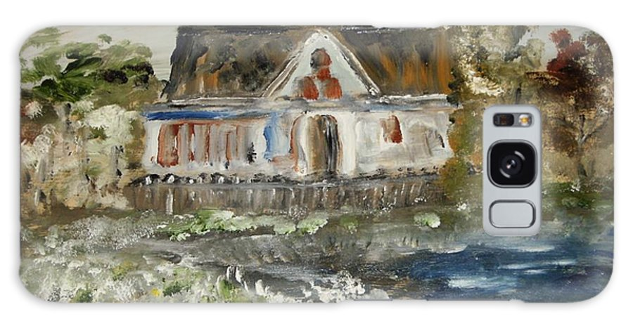 Landscape Galaxy S8 Case featuring the painting House In Mendocino by Edward Wolverton