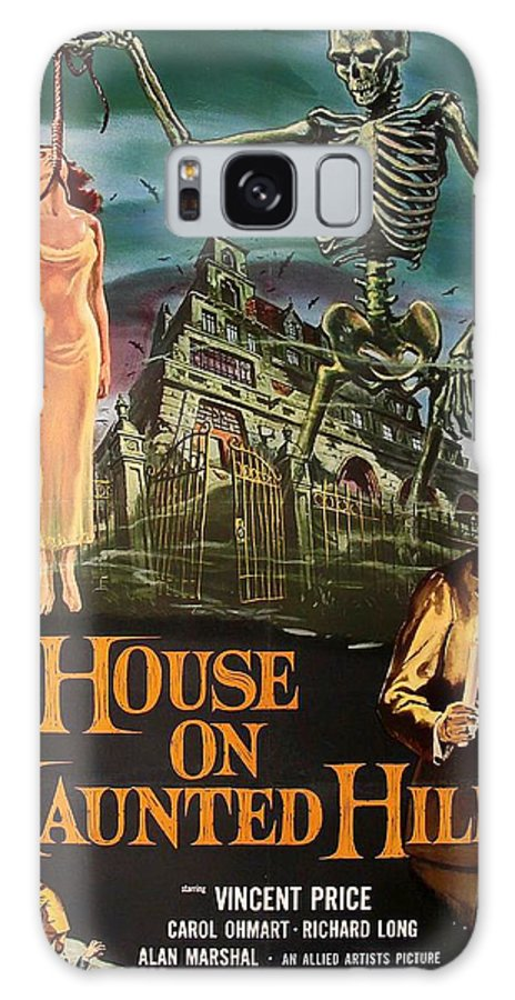 Movie Galaxy S8 Case featuring the mixed media House On Haunted Hill 1958 by Mountain Dreams