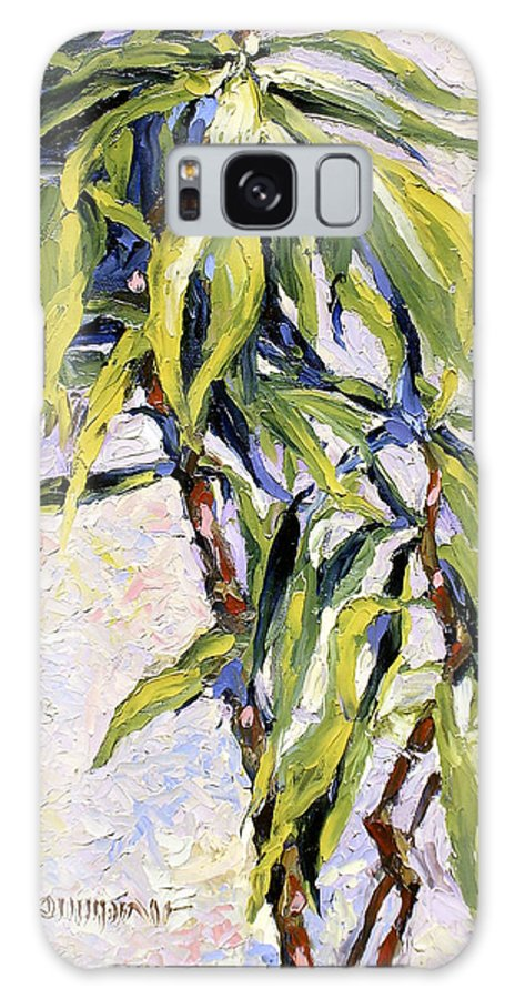 Yucca Galaxy S8 Case featuring the painting House Plant by Lewis Bowman