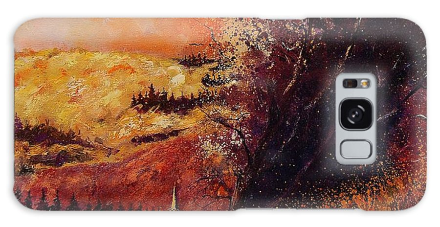 Tree Galaxy S8 Case featuring the painting Houyet In Fall by Pol Ledent