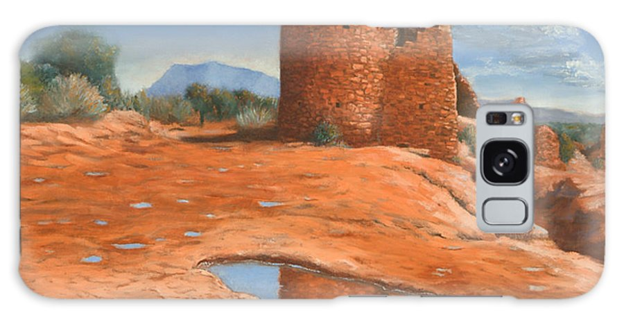 Anasazi Galaxy S8 Case featuring the painting Hovenweep Reflection by Jerry McElroy