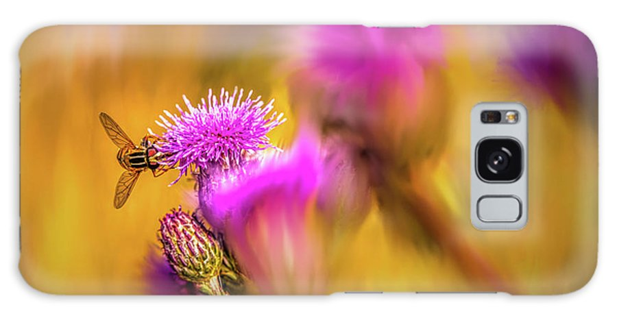 Hoverfly Galaxy S8 Case featuring the digital art Hoverfly Thistle #g7 by Leif Sohlman