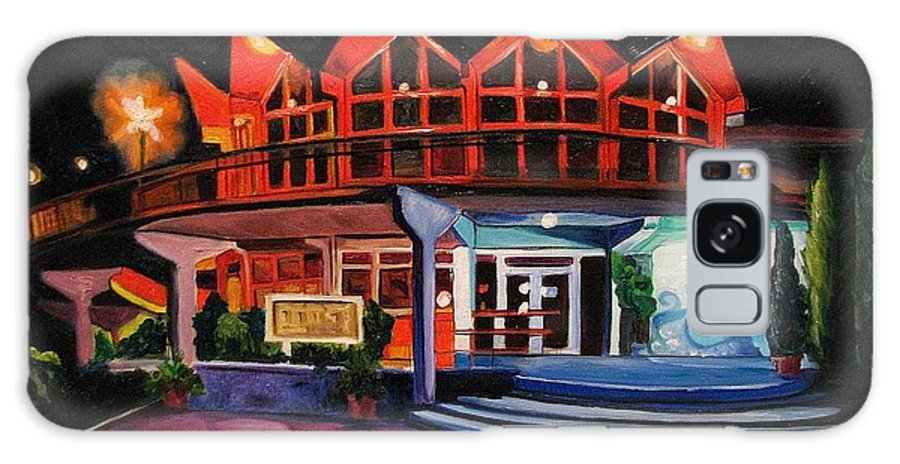 Asbury Art Galaxy S8 Case featuring the painting Howard Johnsons At Night by Patricia Arroyo
