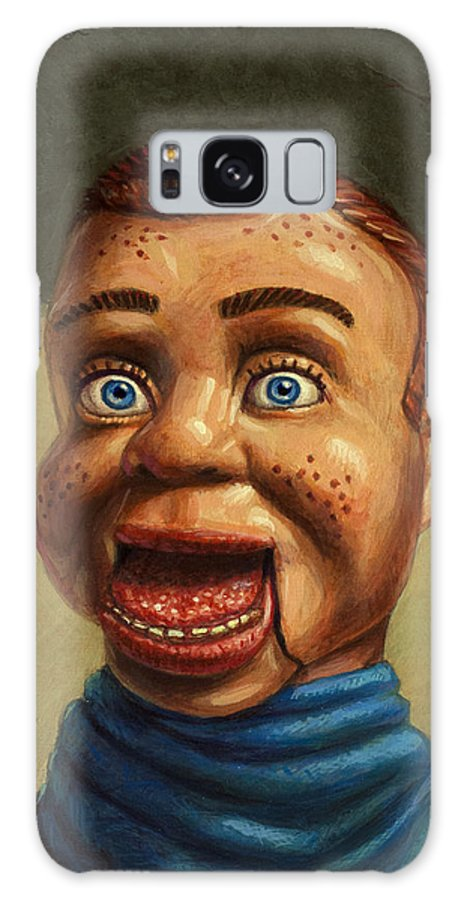 Howdy Doody Galaxy S8 Case featuring the painting Howdy Doody Dodged A Bullet by James W Johnson