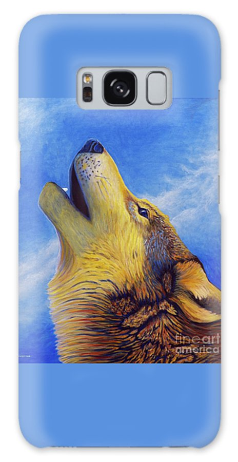 Wolf Galaxy S8 Case featuring the painting Howl by Brian Commerford
