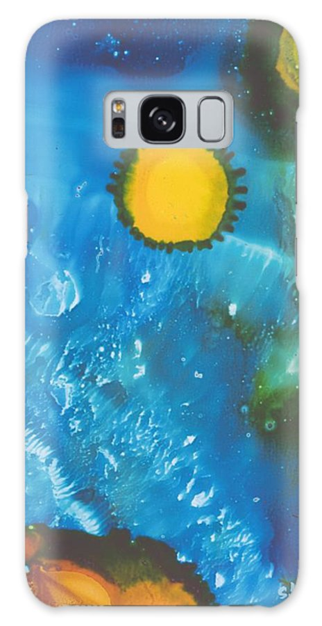 Space Galaxy S8 Case featuring the painting Hubble I by Susan Kubes