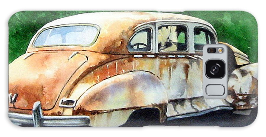 Hudson Car Rust Restore Galaxy S8 Case featuring the painting Hudson Waiting For A New Start by Ron Morrison