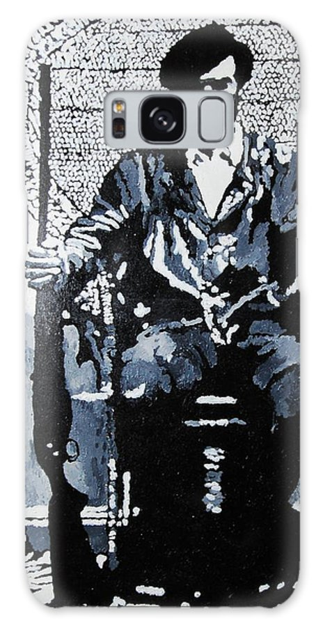 Black Panther Galaxy Case featuring the painting Huey Newton Minister Of Defense Black Panther Party by Lauren Luna