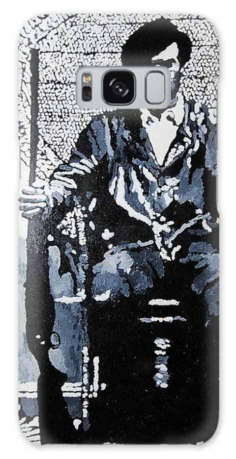 Black Panther Galaxy S8 Case featuring the painting Huey Newton Minister Of Defense Black Panther Party by Lauren Luna