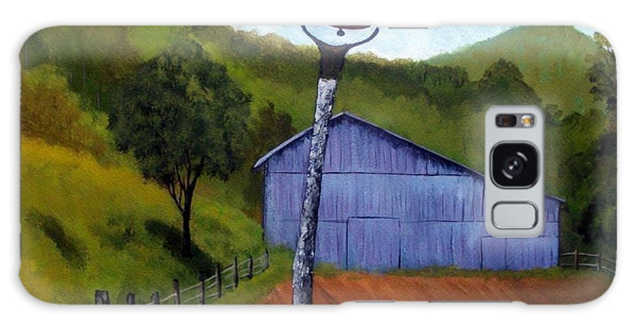 Barn Galaxy Case featuring the painting Huff Barn by Tami Booher
