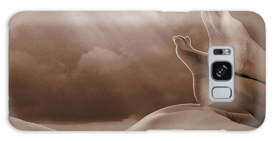 Sepia Galaxy S8 Case featuring the photograph Human-scape by Jacqueline Milner