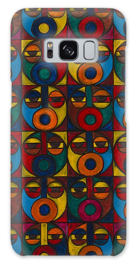 Galaxy Case featuring the painting Humanity by Emeka Okoro