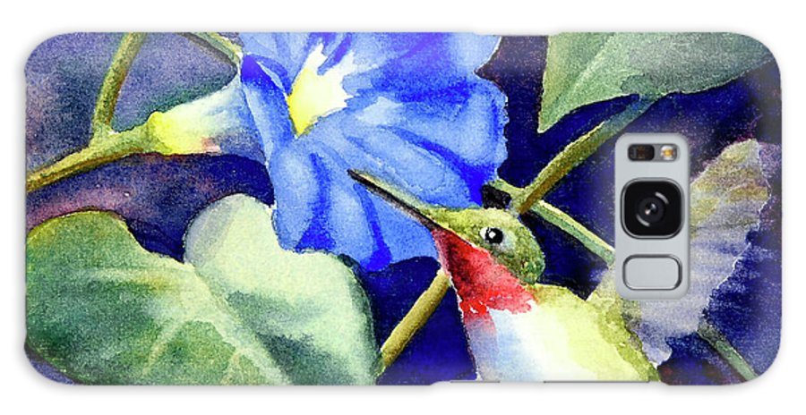 Hummingbird Galaxy S8 Case featuring the painting Hummingbird Delight by Bonnie Rinier