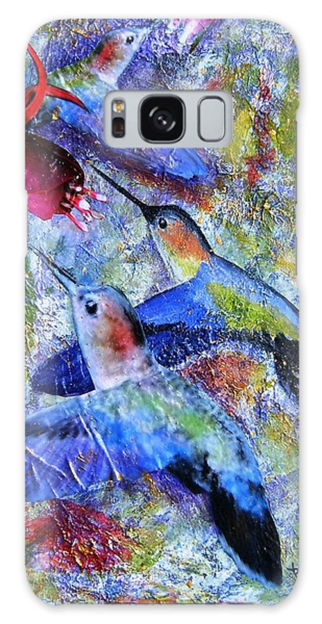 Humming Birds Galaxy S8 Case featuring the painting Hummingbird Joy by Tami Booher