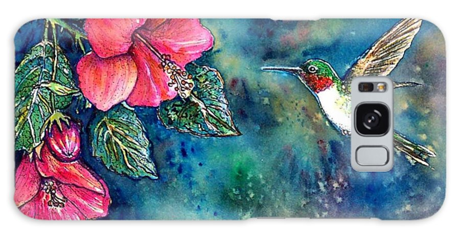 Birds Galaxy S8 Case featuring the painting Hummingbird by Norma Boeckler