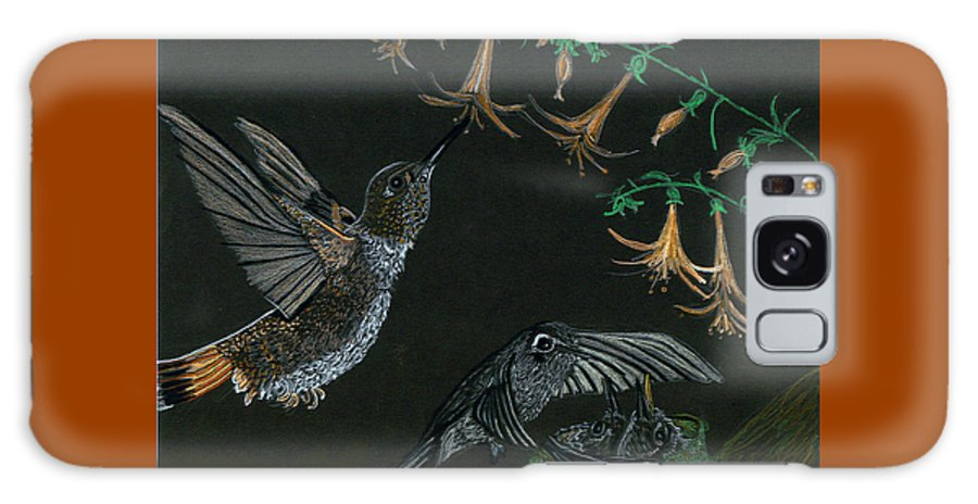 Humming Bird Galaxy S8 Case featuring the drawing Hummingbird Parents by Michelle Audas