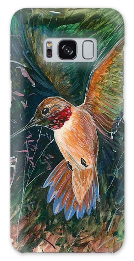 Hummingbird Galaxy S8 Case featuring the painting Hummingbird by Shari Erickson