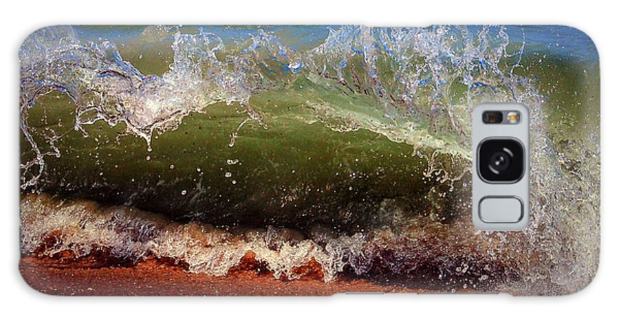 Wave Galaxy S8 Case featuring the photograph Hungry Wave Of Fenwick Island by Bill Swartwout Fine Art Photography