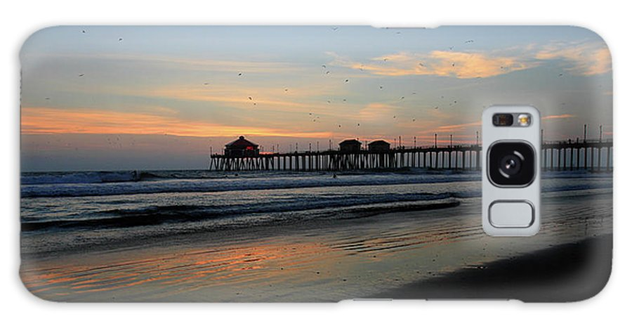 Huntington Galaxy S8 Case featuring the photograph Huntington Beach Pier by Pierre Leclerc Photography