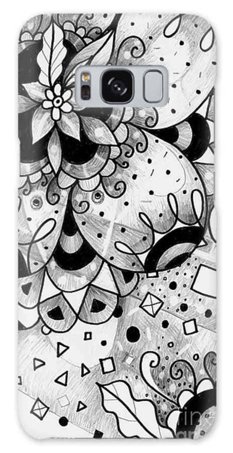 Everything All The Time Galaxy S8 Case featuring the drawing Hurlyburly by Helena Tiainen