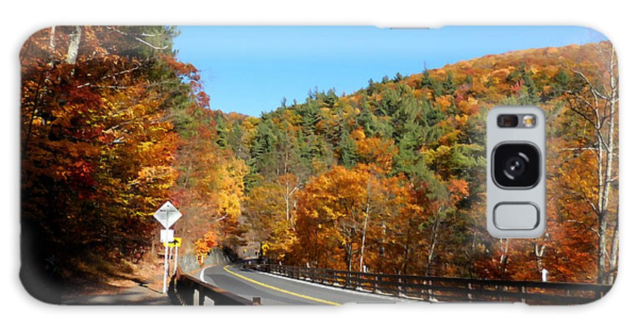 Kaaterskill Falls Ny 23a Galaxy S8 Case featuring the painting Hwy 23a 4 by Jeelan Clark