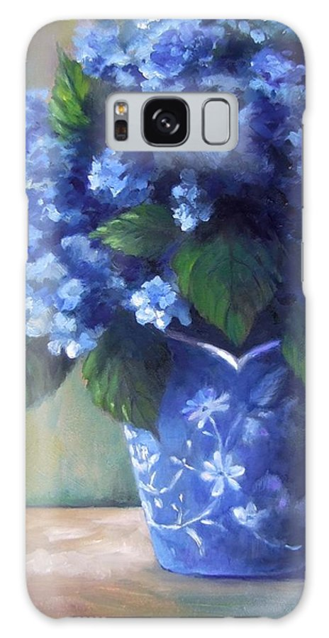 Flowers Galaxy Case featuring the painting Hydrangea Study by Ruth Stromswold
