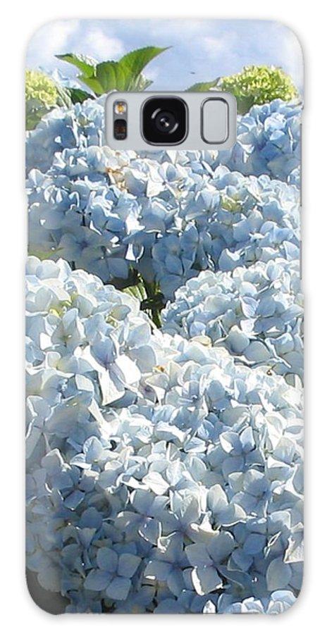 Blue Hydrangea Galaxy S8 Case featuring the photograph Hydrangeas by Valerie Josi